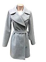 Демисезонное женское пальто кашемировое с поясом размеры 40-46