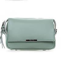Завораживающая сумка - клатч из натуральной кожи (24*17*9см) ALEX RAI, 2-01 2227 green