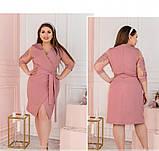Платье Minova 1240Б-пудра, фото 2