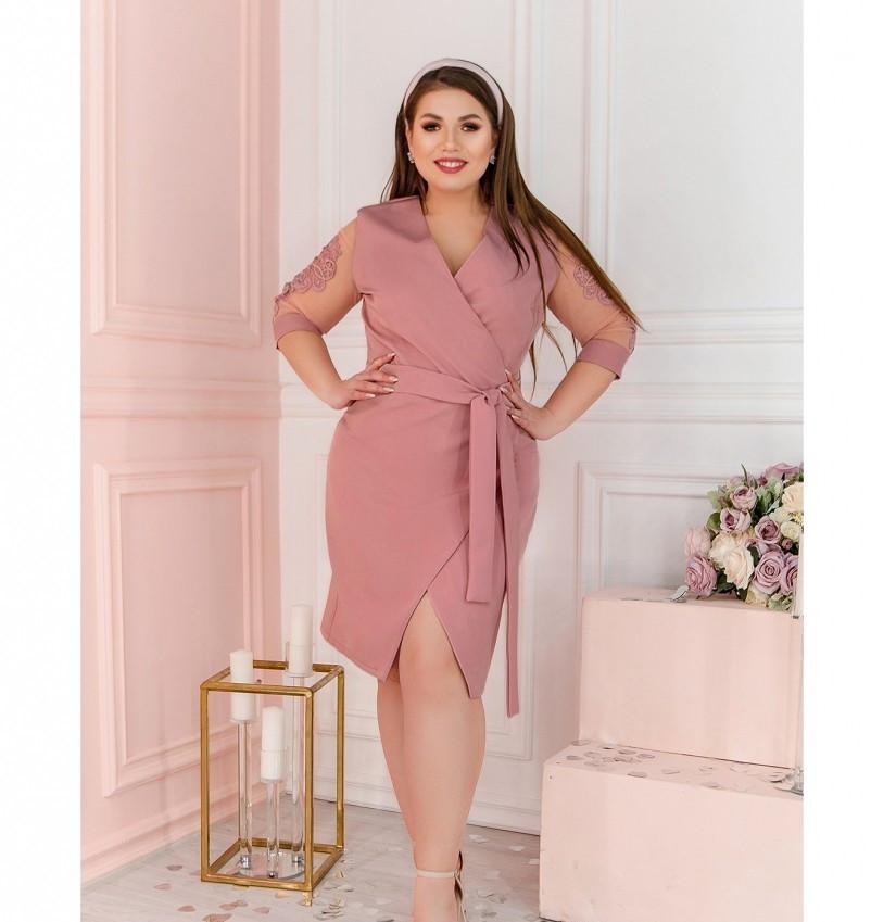 Платье Minova 1240Б-пудра