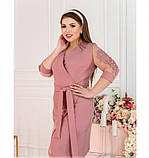 Платье Minova 1240Б-пудра, фото 3