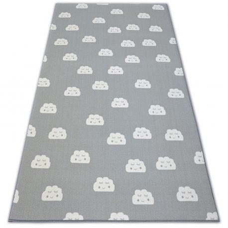 Ковер Лущув Clouds 200x450 см серый прямоугольный (@85122)