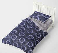 Полуторный комплект постельного белья HalfTones, 160*220, бязь/постільна білизна підліткова, полуторна