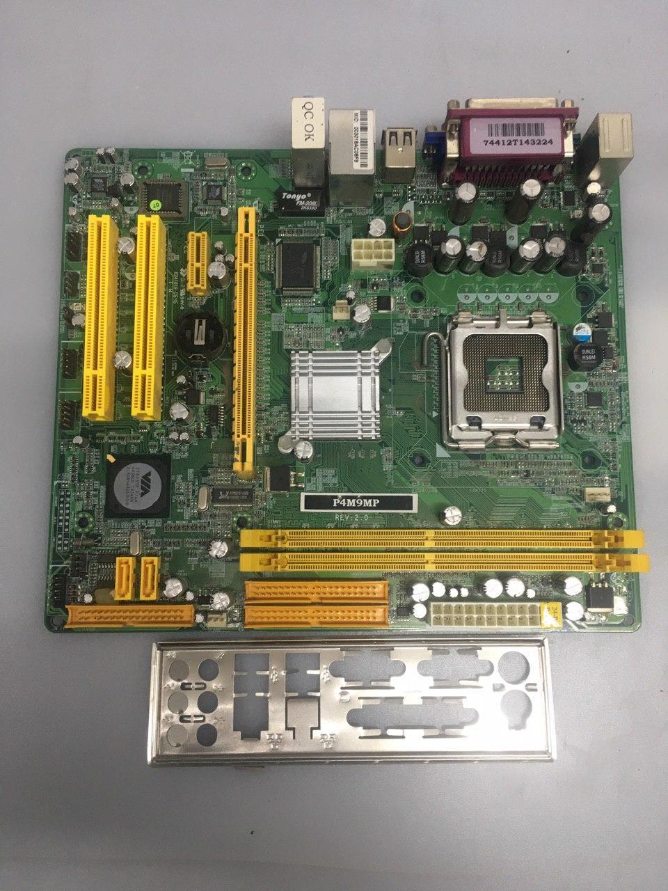 Материнская плата LGA775 Jetway P4M9MP с видеокартой S3 Graphics UniChrome Pro