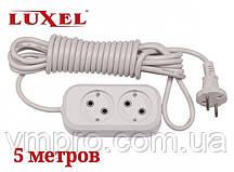 Удлинитель сетевой Luxel 10A, 2 розетки, удлинители электрические 5