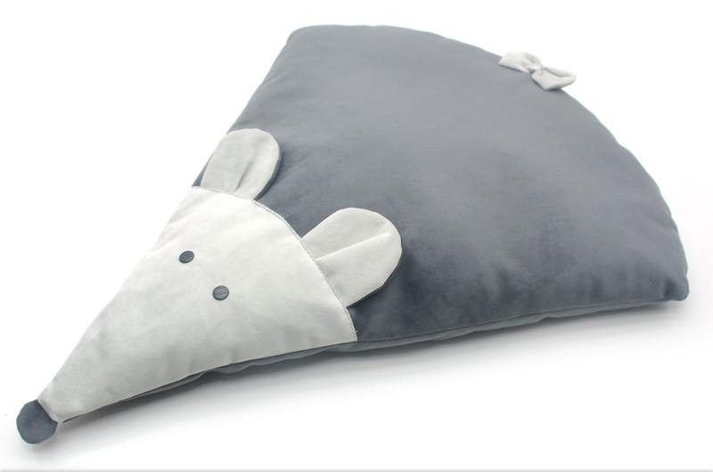 Матрас коврик для собак и котов Мышка №1 50х58 см серый