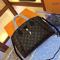 Сумка женская Louis Vuitton коричневая Original quality зеркальная реплика черная с цветами