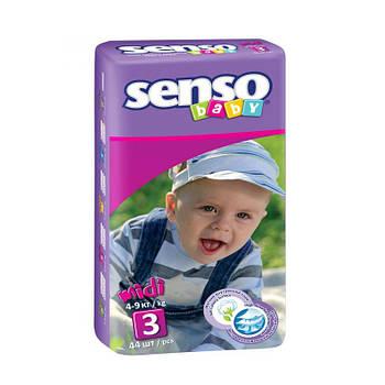 Подгузники Senso Baby Midi 3 (4-9 кг), 48шт