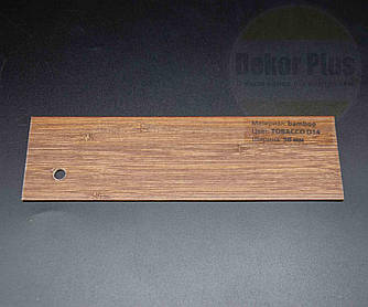 Жалюзі дерев'яні 50мм bamboo Tobacco d14