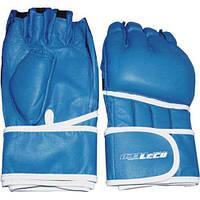 Перчатки для рукопашного боя синие, разм.S т00304