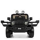 Детский электромобиль Jeep Wrangler M 4176EBLR-2 черный, фото 3