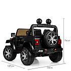 Детский электромобиль Jeep Wrangler M 4176EBLR-2 черный, фото 7
