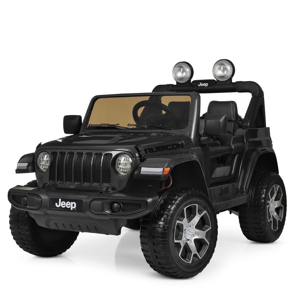 Детский электромобиль Jeep Wrangler M 4176EBLR-2 черный