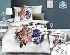 Комплект постельного белья Микроволокно HXDD-787 M&M 6819 Кремовый, Бежевый, Фиолетовый, фото 2