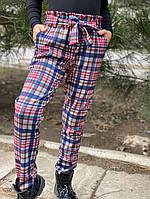 Детские брюки модная клетка 128-152 см
