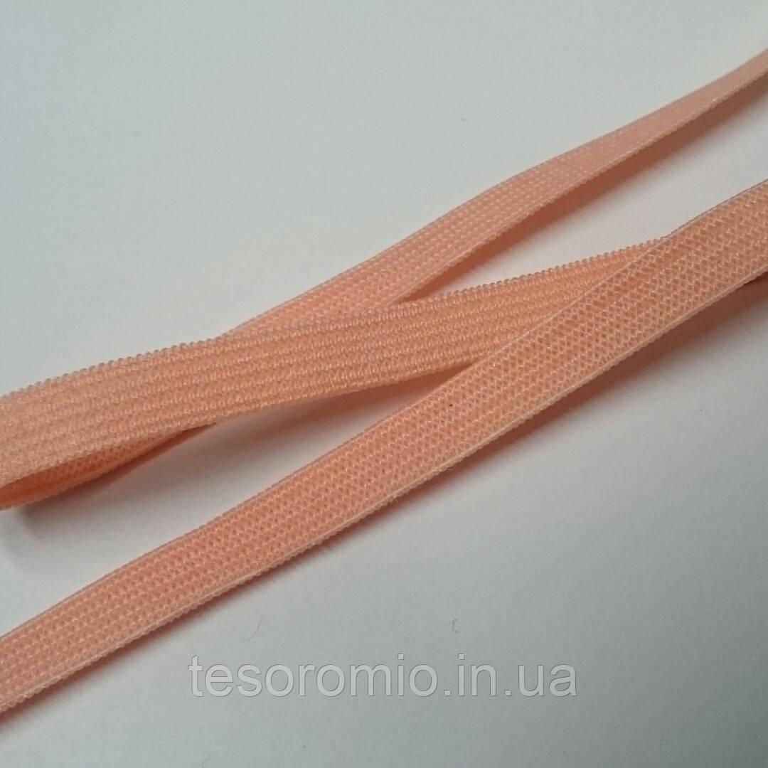 Резинка бельевая, мягкая, ширина 6 мм, цвет лососевый