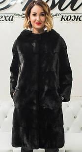 Шуба Норковая Черная 100 см Канадская Шанель 0524ЕИШ