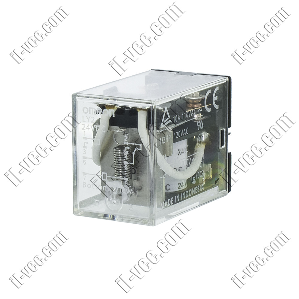Реле OMRON LY2 24VDC, 10A/110VAC, 10A/24VDC