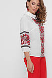 GLEM Красные цветы блуза Жули 3/4, фото 2