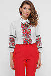 GLEM Красные цветы блуза Жули 3/4, фото 3