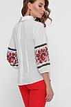 GLEM Красные цветы блуза Жули 3/4, фото 4
