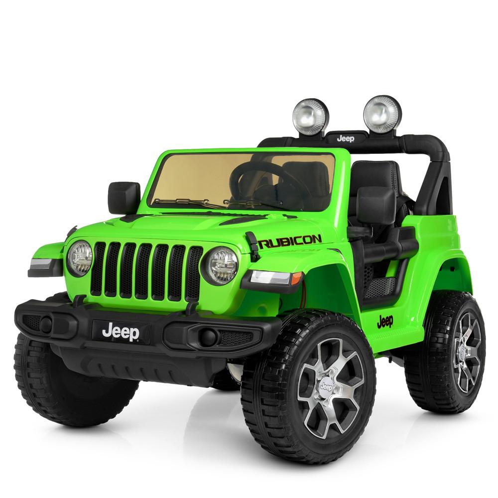 Детский электромобиль Jeep Wrangler M 4176EBLR-5 зеленый
