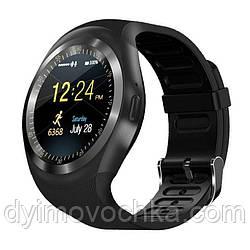 Часы Smart watch Y1, Bluetooth, водонепроницаемые, черные