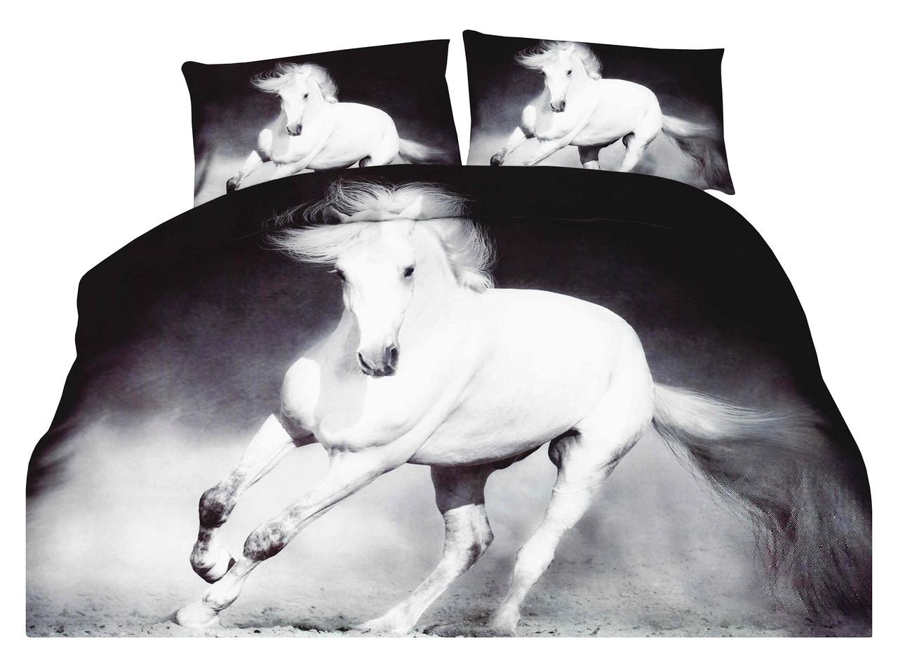 Комплект постельного белья Микроволокно HXDD-726 M&M 6826 Белый, Серый
