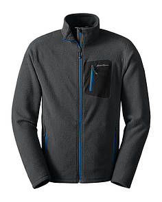 Оригинал Флисовая кофта Polartec Eddie Bauer Men's Cloud Layer Pro Full-Zip Fleece Jacket 0679 Large, Синій