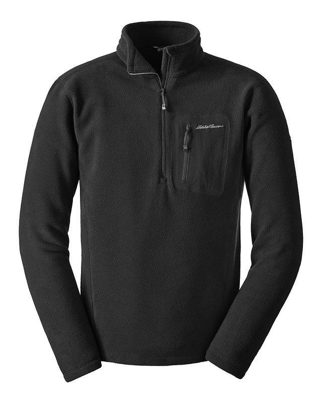 Оригинал Флисовый пуловер Polartec Eddie Bauer Men's Cloud Layer® Pro Fleece 1/4-Zip Pullover 0677 Medium, Grey (Сірий)