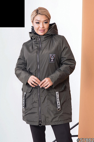 Куртка жіноча демісезонна розміри: 52-62, фото 2