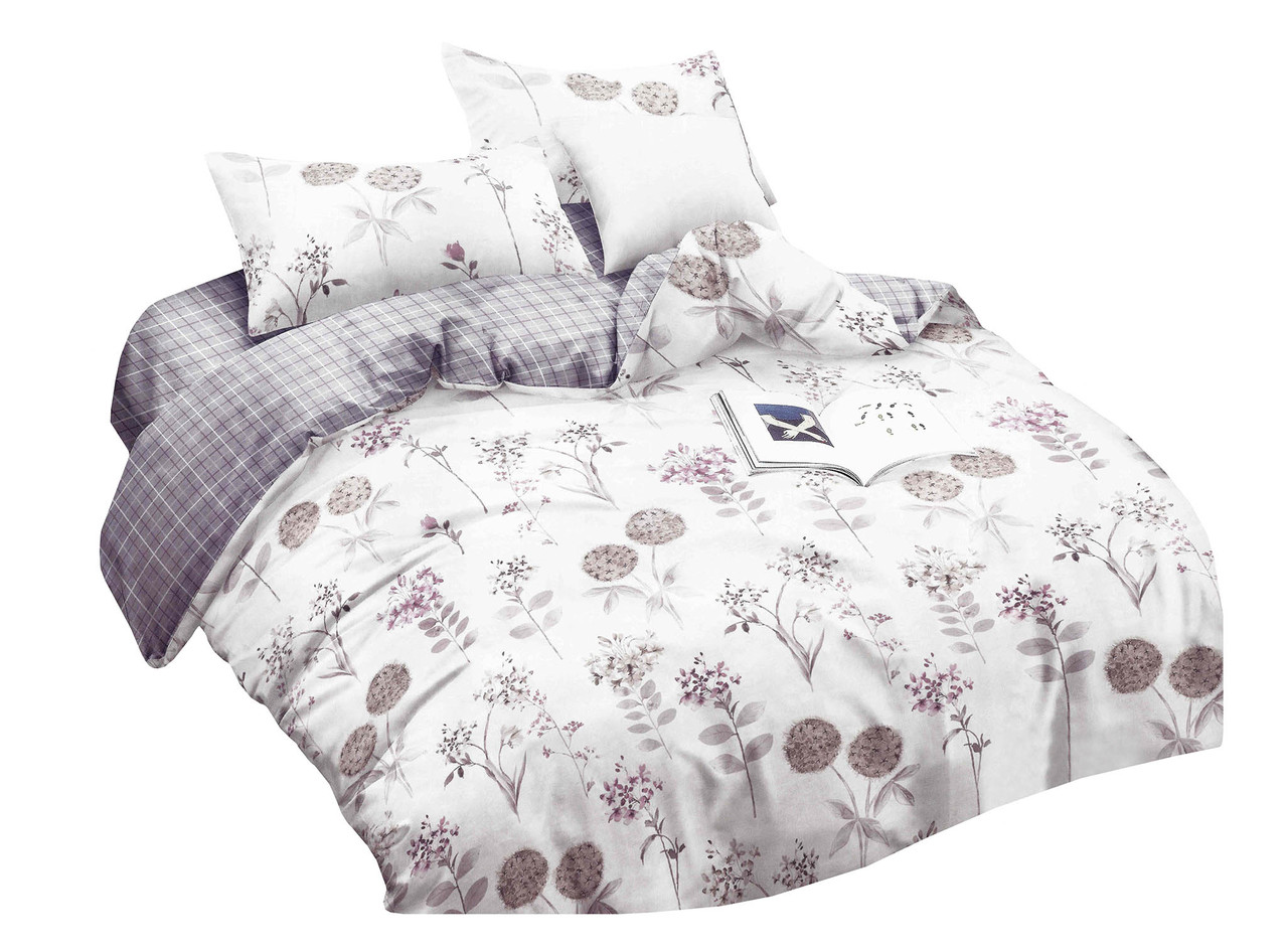 Комплект постельного белья Микроволокно HXDD-803 M&M 6833 Белый, Кремовый