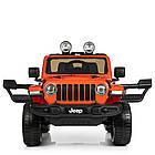 Детский электромобиль Jeep Wrangler M 4176(MP4)EBLR-7 оранжевый, фото 3