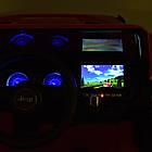 Детский электромобиль Jeep Wrangler M 4176(MP4)EBLR-7 оранжевый, фото 5