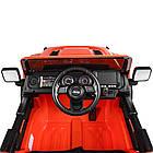 Детский электромобиль Jeep Wrangler M 4176(MP4)EBLR-7 оранжевый, фото 4