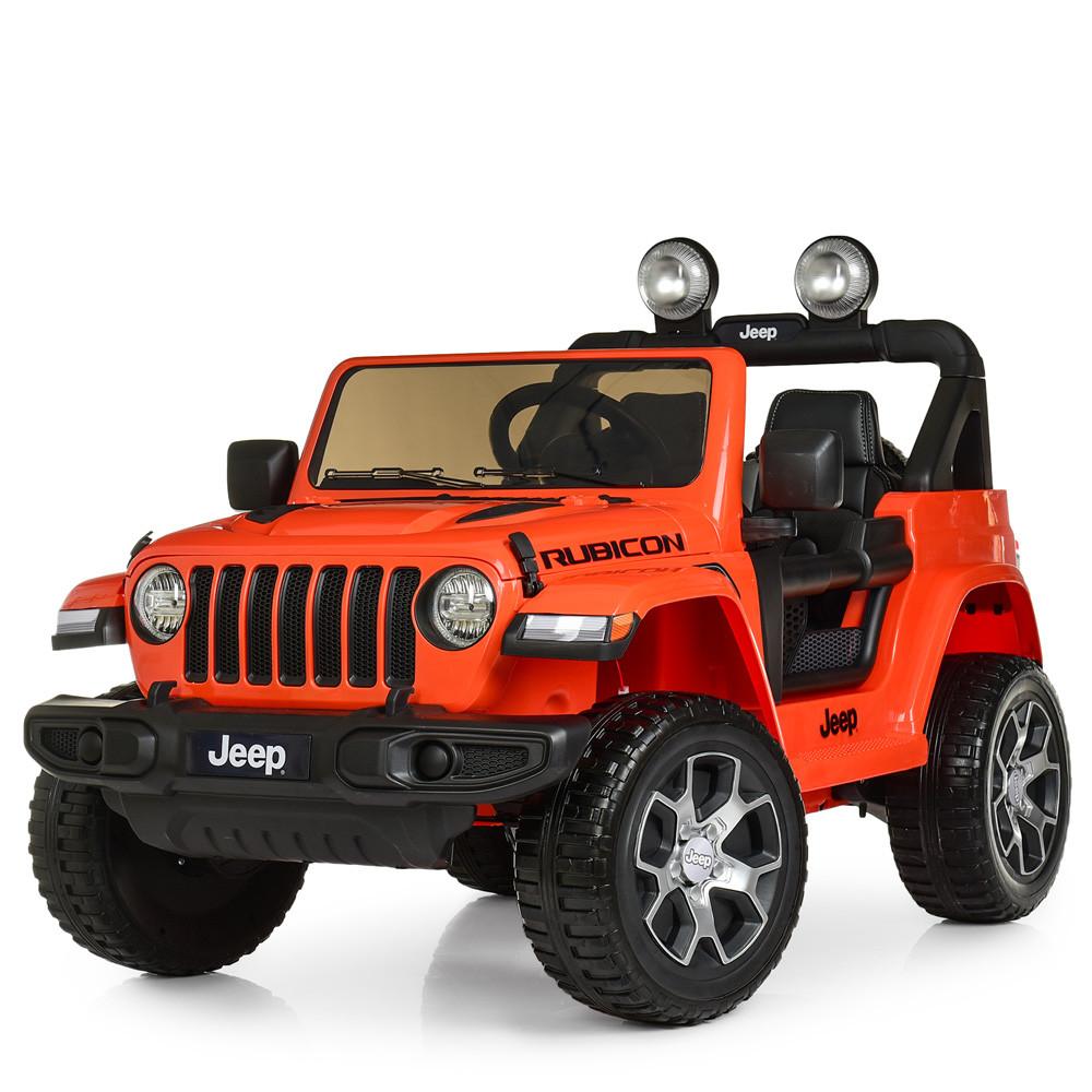 Детский электромобиль Jeep Wrangler M 4176(MP4)EBLR-7 оранжевый