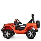 Детский электромобиль Jeep Wrangler M 4176(MP4)EBLR-7 оранжевый, фото 6