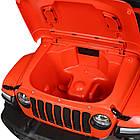 Детский электромобиль Jeep Wrangler M 4176(MP4)EBLR-7 оранжевый, фото 7