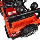Детский электромобиль Jeep Wrangler M 4176(MP4)EBLR-7 оранжевый, фото 8