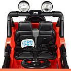 Детский электромобиль Jeep Wrangler M 4176(MP4)EBLR-7 оранжевый, фото 9