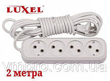 Удлинитель сетевой Luxel 10A, 4 розетки, удлинители электрические