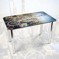 Виниловая наклейка на стол Площадь большого Города декоративная пленка самоклеющаяся, серый 600*1000 мм