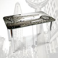 Виниловая наклейка на стол Триугольное здание Нью-Йорк декоративная пленка самоклеющаяся, серый 600*1000 мм