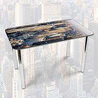 Виниловая наклейка на стол Небоскребы город декоративная пленка самоклеющаяся, серый 600*1000 мм