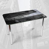 Виниловая наклейка на стол Серые бетонные здания город декоративная пленка самоклеющаяся, серый 600*1000 мм