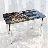 Виниловая наклейка на стол Восточный город Небоскребы декоративная пленка самоклеющаяся, серый 600*1000 мм