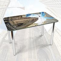 Виниловая наклейка на стол Церковь Троицы декоративная пленка самоклеющаяся, серый 600*1000 мм