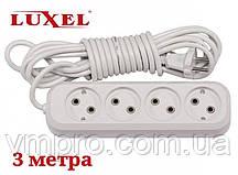 Удлинитель сетевой Luxel 10A, 4 розетки, удлинители электрические 3