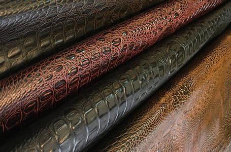 Искусственная кожа с тиснением крокодила