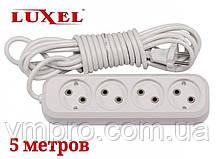 Удлинитель сетевой Luxel 10A, 4 розетки, удлинители электрические 5